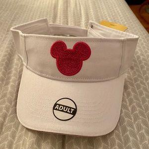 NWT Disney Minnie Mouse White Visor Hat